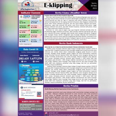 E-Kliping Perpustakaan Bank Indonesia Tasikmalaya Edisi 03 Mei 2021