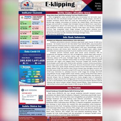 E-Kliping Perpustakaan Bank Indonesia Tasikmalaya Edisi 06 Mei 2021