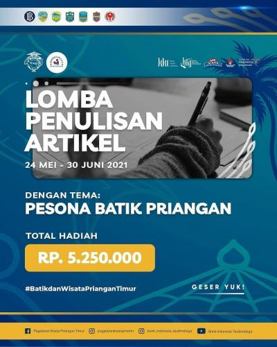 Lomba Penulisan Artikel Pesona Batik Nusantara