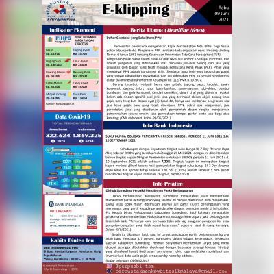 E-Kliping Perpustakaan Bank Indonesia Tasikmalaya Edisi 09 Juni 2021